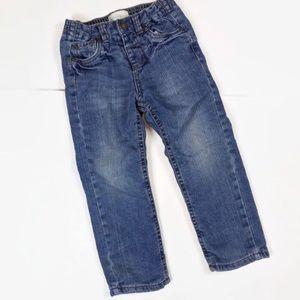 Wonderkids Fleece Lined Boys Denim Blue Jeans 4T